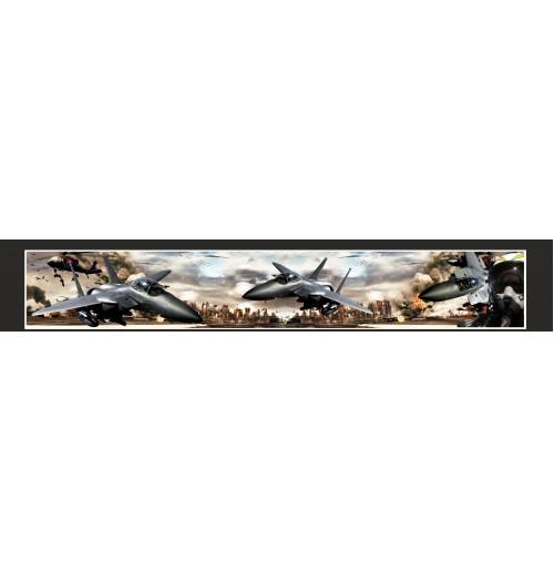 35X210 cm  Savaş Uçağı Baskılı Kamyon Paçalığı