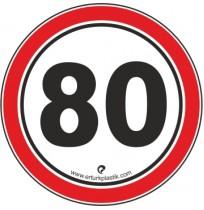 Uyarı İşaretleri ( Hız Sınırı 80 )