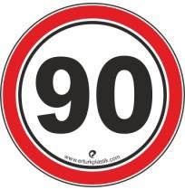 Uyarı İşaretleri ( Hız Sınırı 90 )